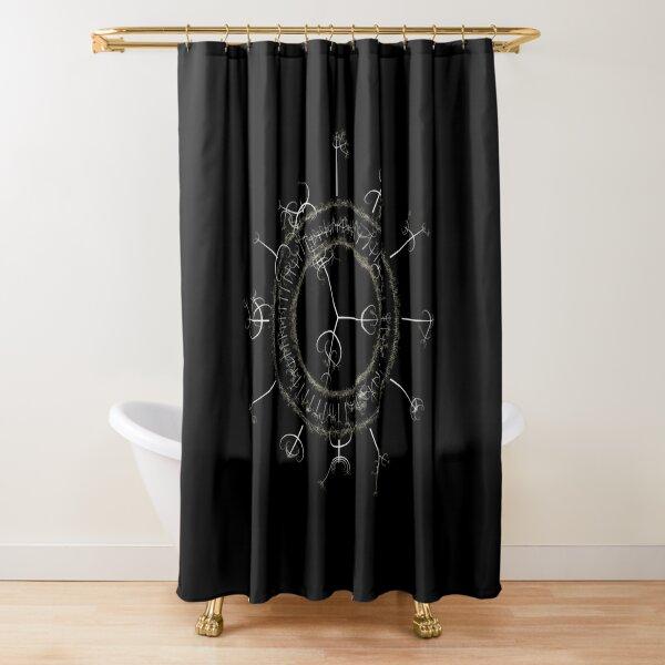 #DarkArts, #vortex, #illustration, #abstract, design, element, science, creativity Shower Curtain