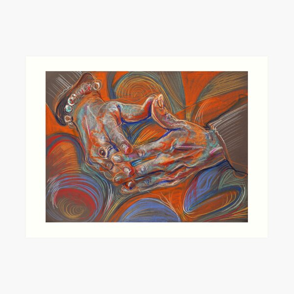 Folded Hands Art Print