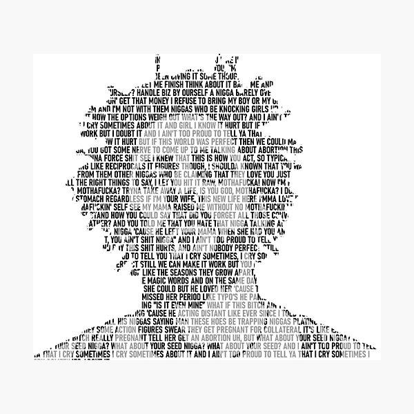 Lost Ones (J Cole) - Lyric Art Photographic Print