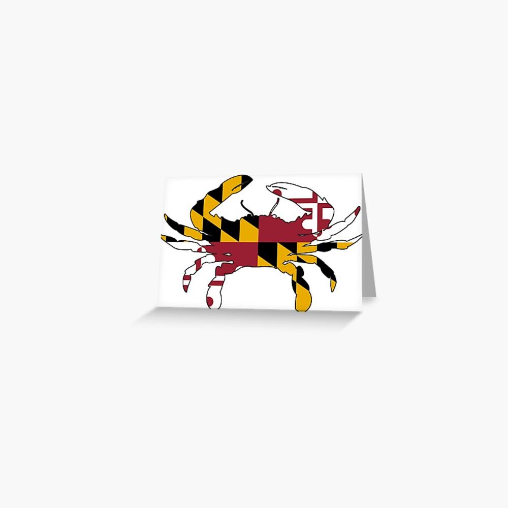 Cangrejo de la bandera de Maryland Tarjetas de felicitación