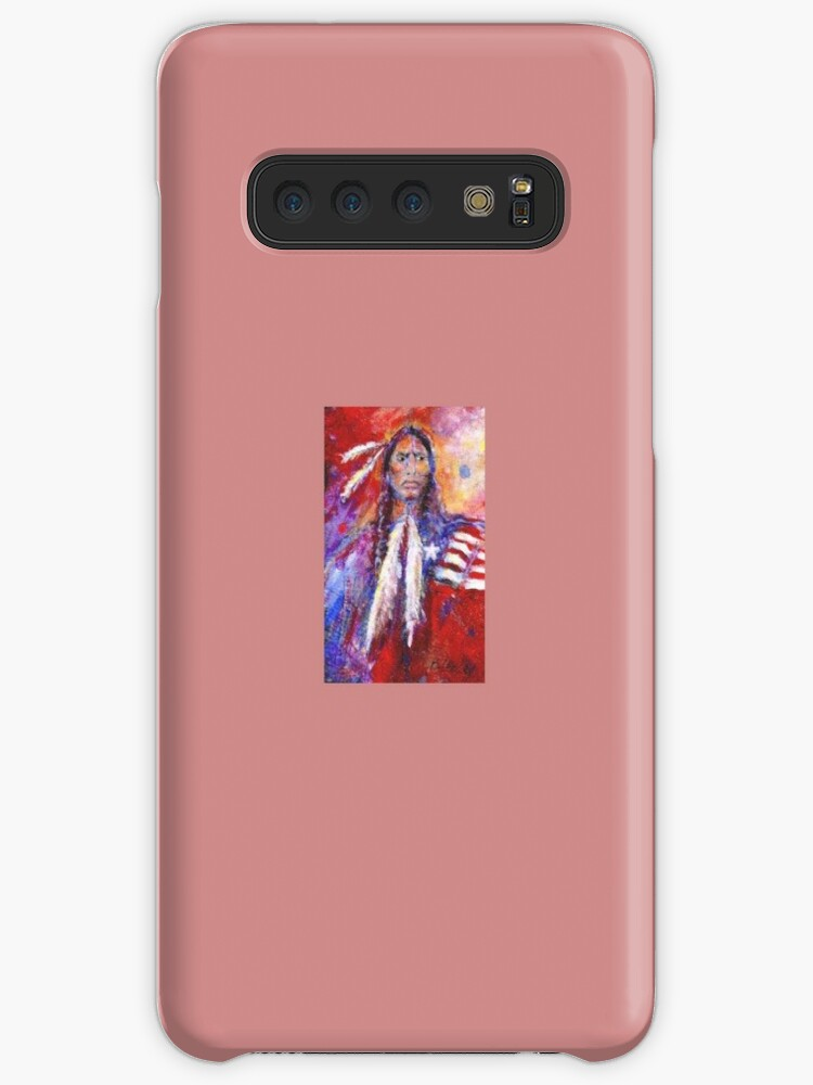 'Blackfoot Indian' Case/Skin for Samsung Galaxy by Barbara Lemley
