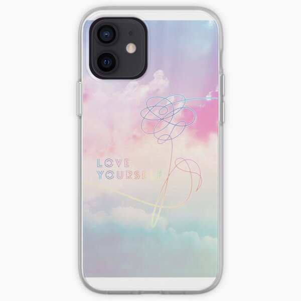 Love Yourself Her Pastel Clouds BTS Bangtan Kpop Merch iPhone Soft Case