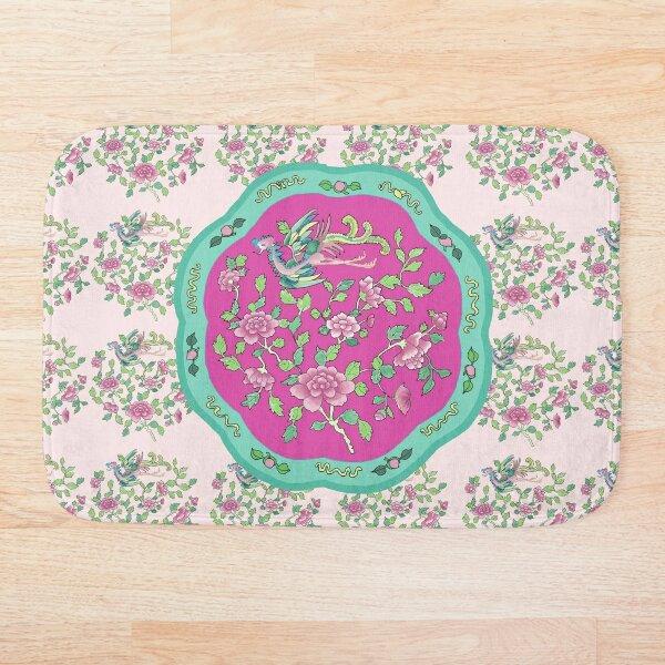 Pink-Jade PERANAKAN PLATE Bath Mat