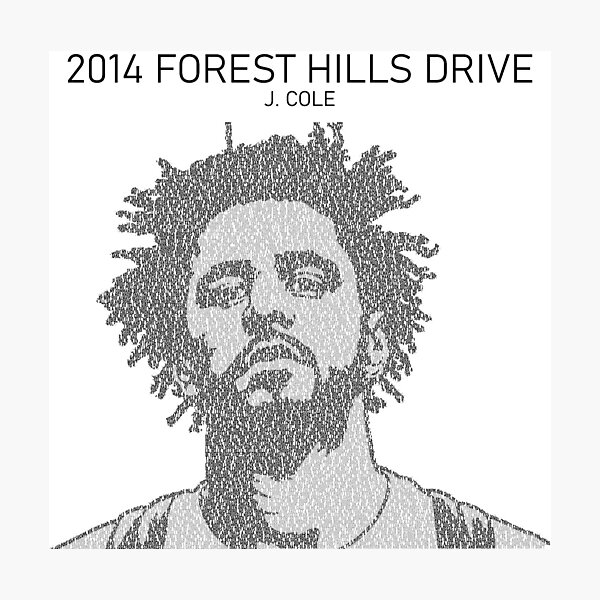 All the lyrics of 2014 Forest Hills Drive (J Cole)  Photographic Print