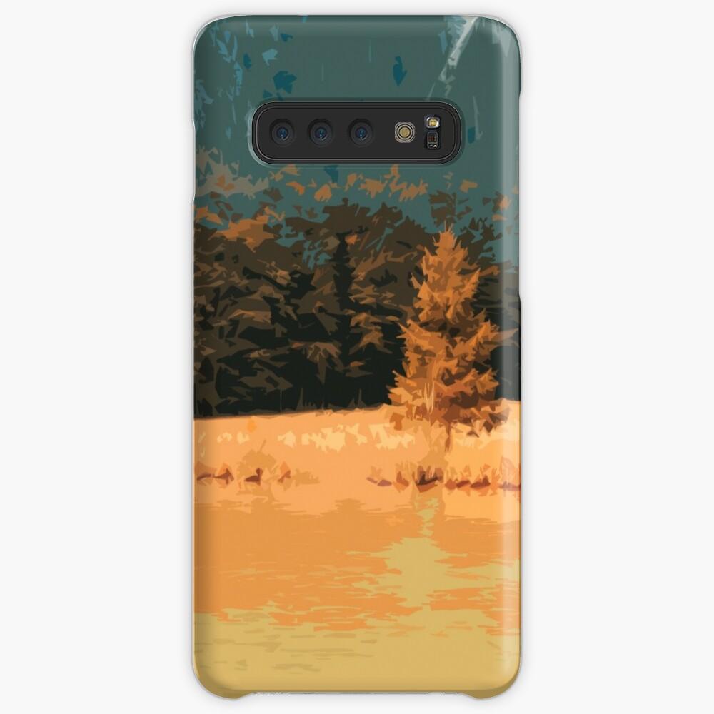 Orange Landschaft Königssee Germany Hülle & Klebefolie für Samsung Galaxy