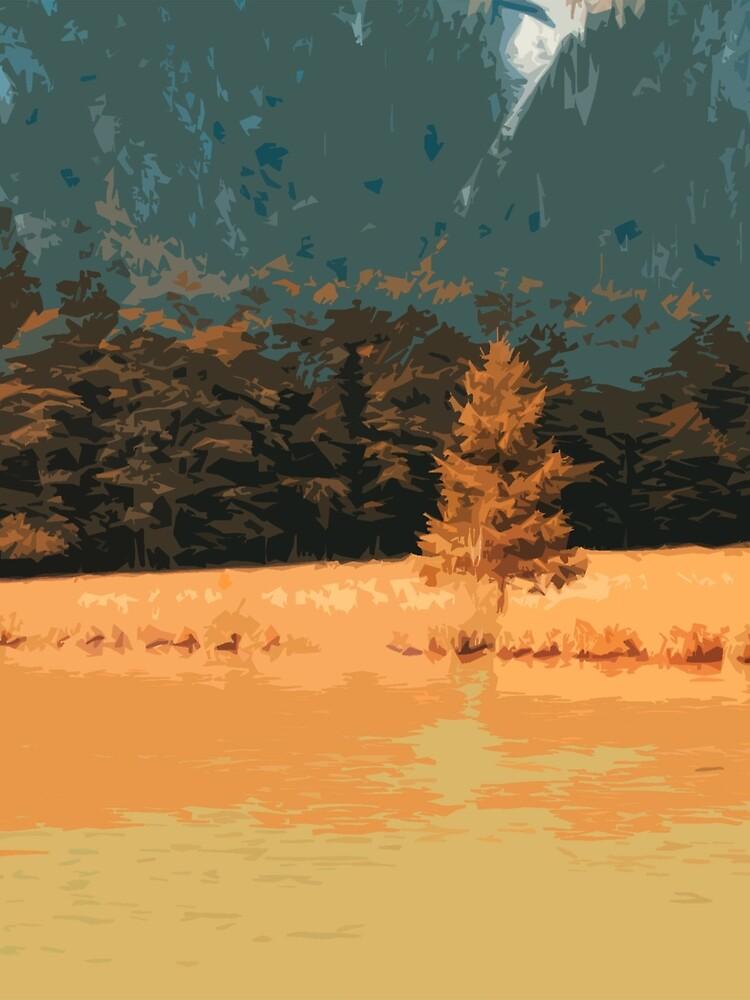 Orange Landschaft Königssee Germany von RanitasArt