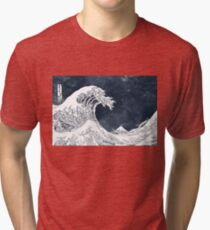 The Great Wave of a Star System Tri-blend T-Shirt