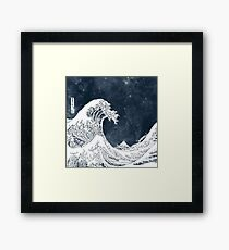 The Great Wave of a Star System Framed Print
