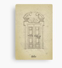 Italian old vintage door grapgics Canvas Print