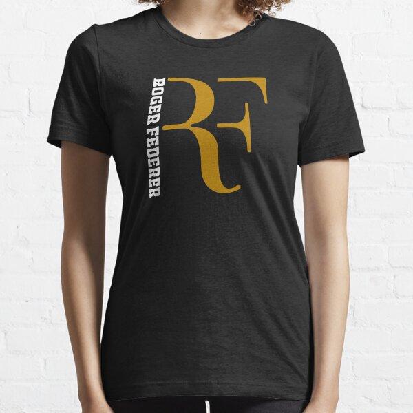 Roge Federer Italyc Logo Or Blanc T-shirt essentiel