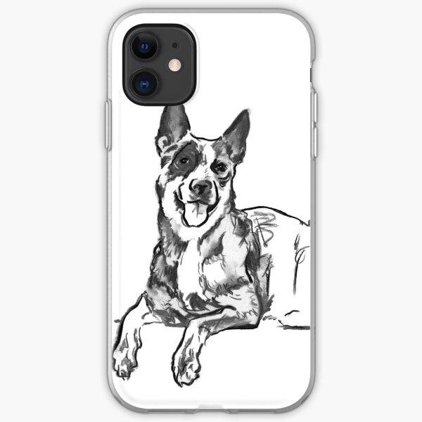 Blue Heeler Drawing iPhone Soft Case