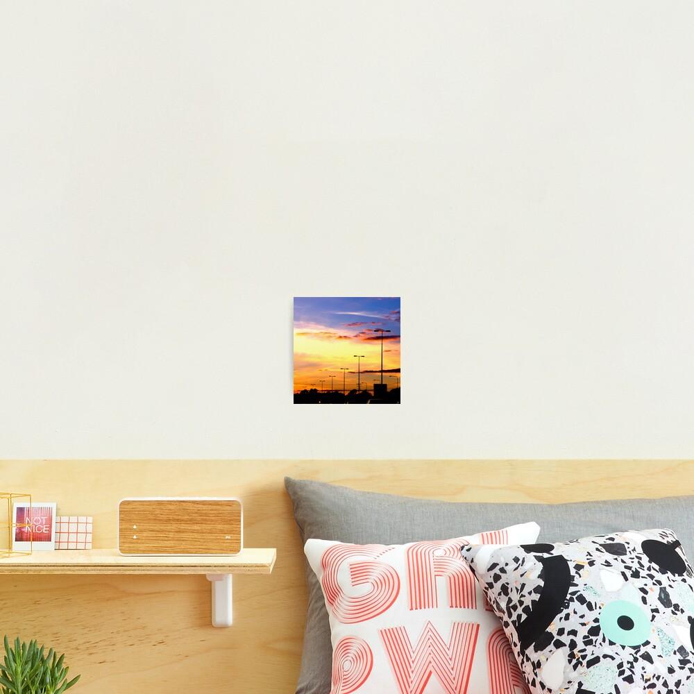 Sunset Lamp Posts Photographic Print