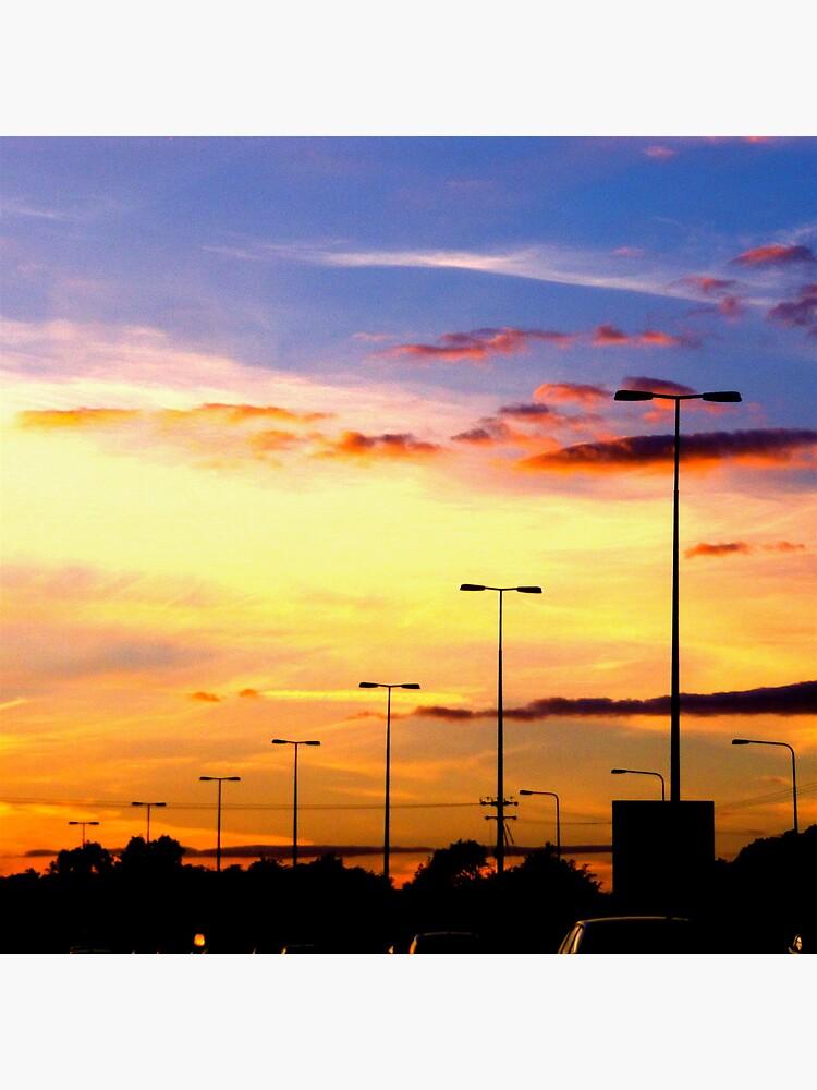Sunset Lamp Posts by Briandamage