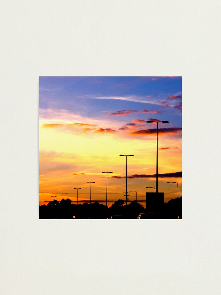 Alternate view of Sunset Lamp Posts Photographic Print
