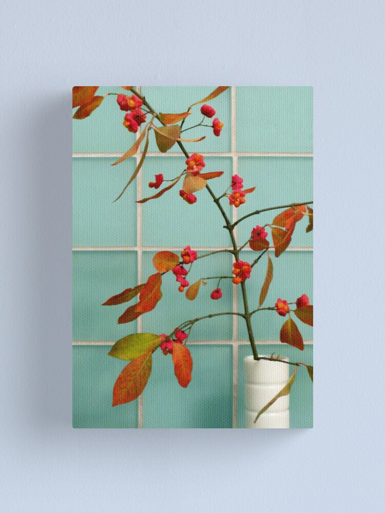 Alternate view of Autumn Twig and Tiles Canvas Print