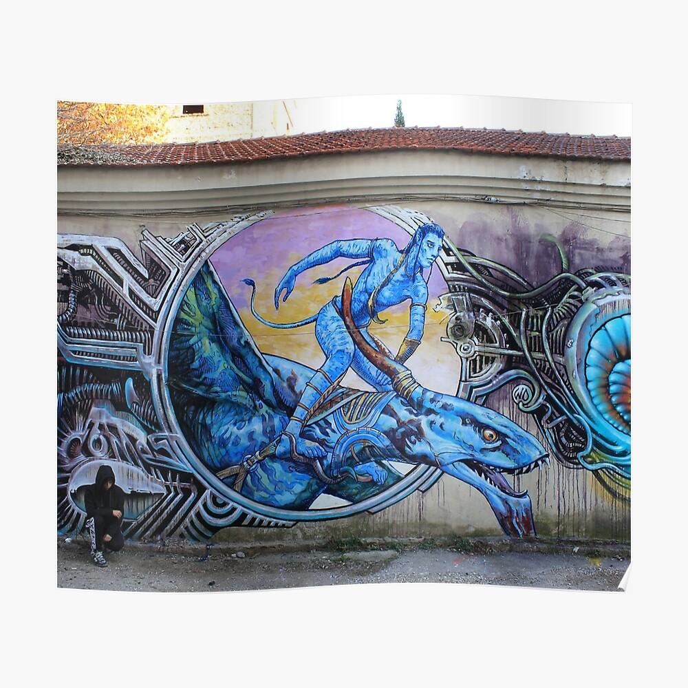Avatar Sky Rider Street Art Poster