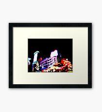 Club Night Lights Framed Print