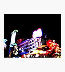 Club Night Lights Photographic Print