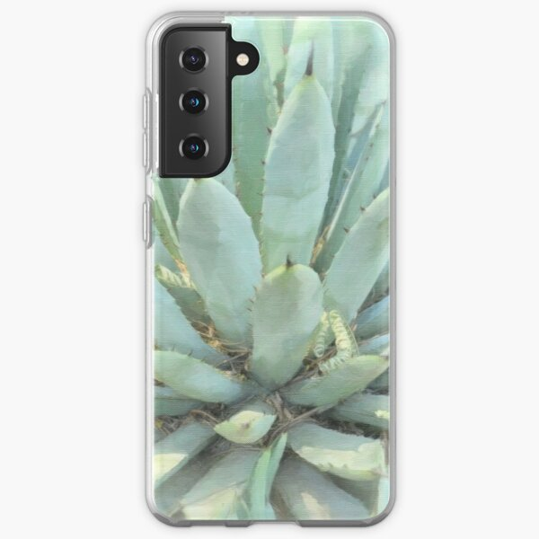 Succulents, Dreamy Southwest Photography - Agave Cactus 2 Samsung Galaxy Soft Case