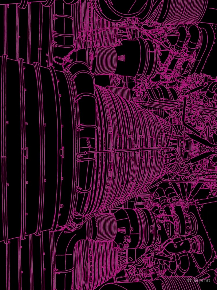 Apollo Rocket Boosters in Pink Neon by m-lapino
