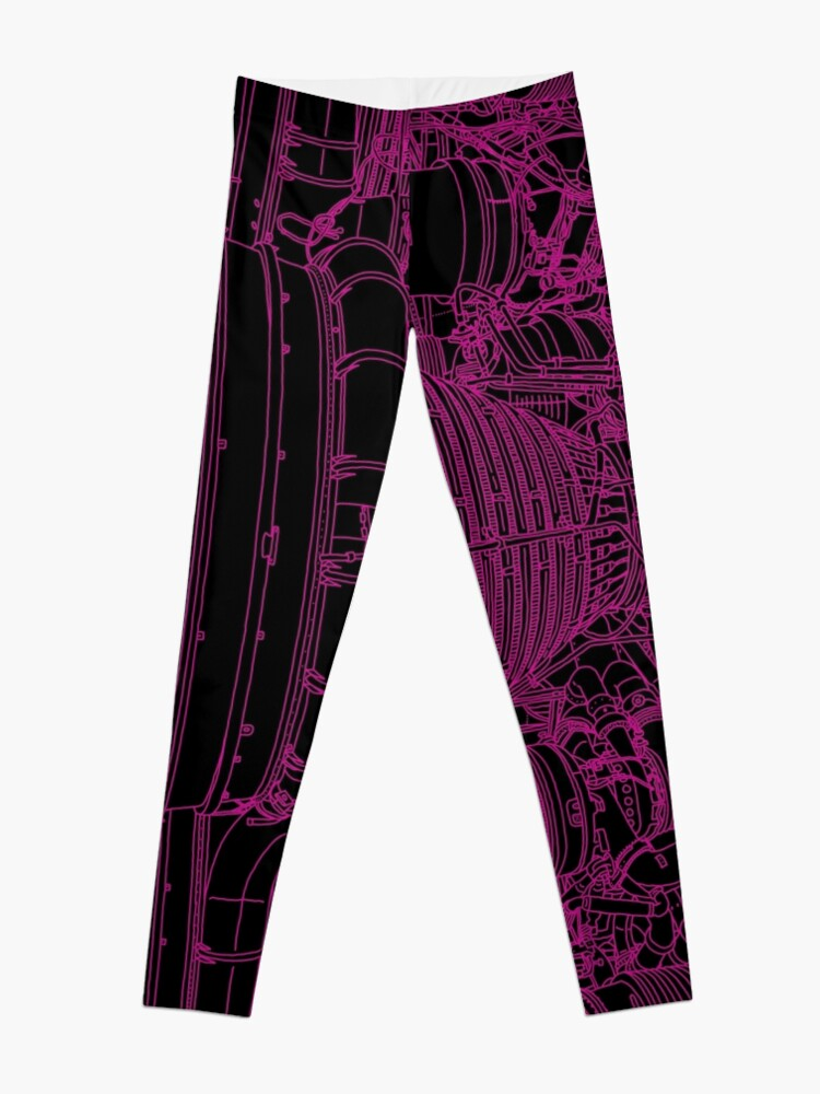 Alternate view of Apollo Rocket Boosters in Pink Neon Leggings