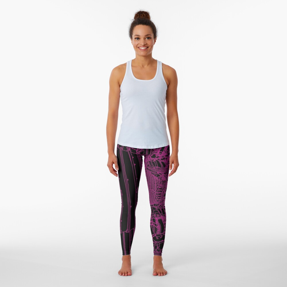 Apollo Rocket Boosters in Pink Neon Leggings