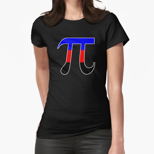 Pi Polyamory Pride Fitted T-Shirt