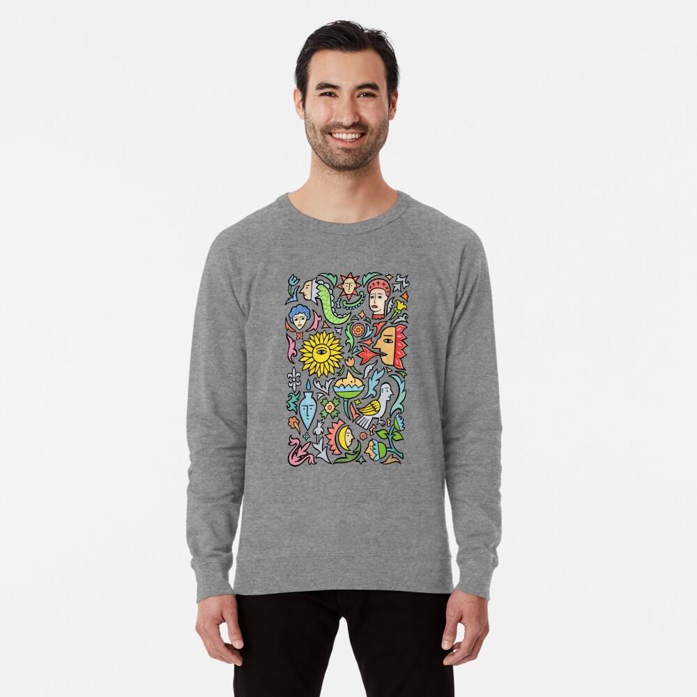 A bird among the other stuff Lightweight Sweatshirt