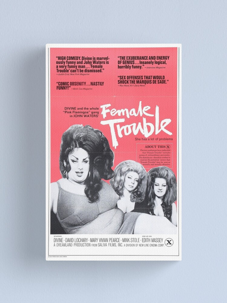 Alternate view of Female Trouble Canvas Print
