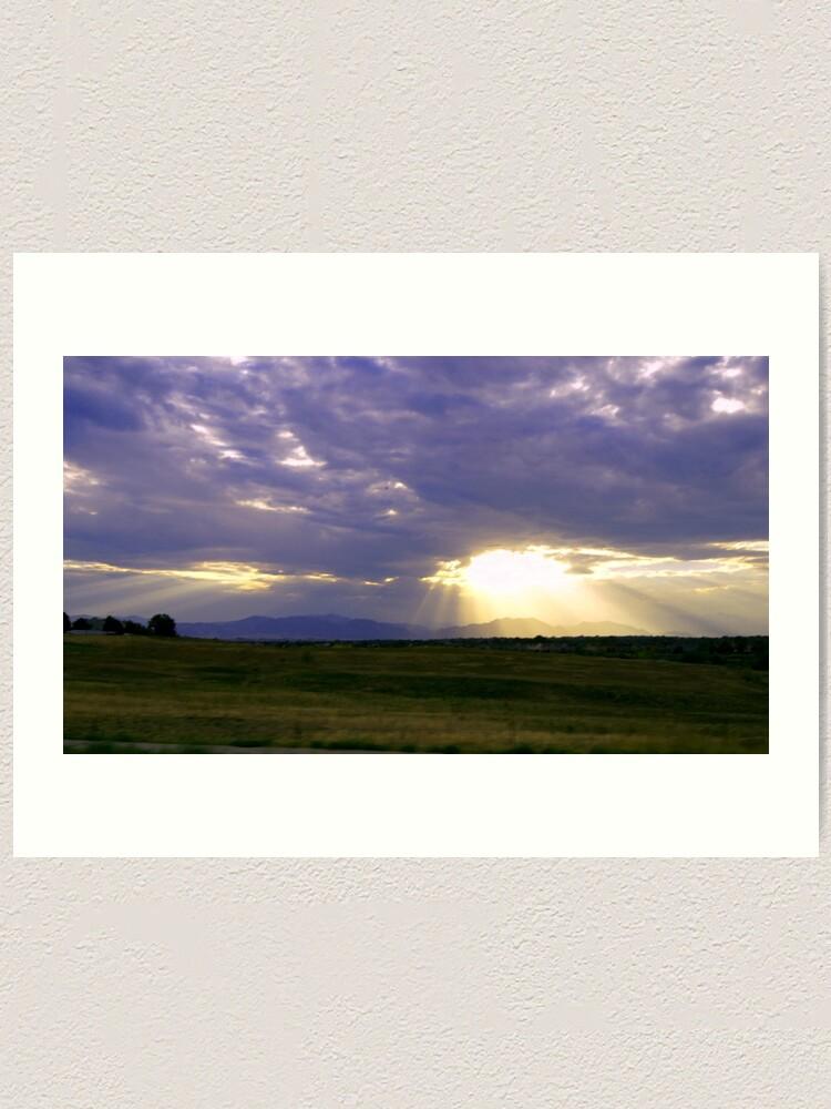 Alternate view of Sun Through the Clouds Art Print