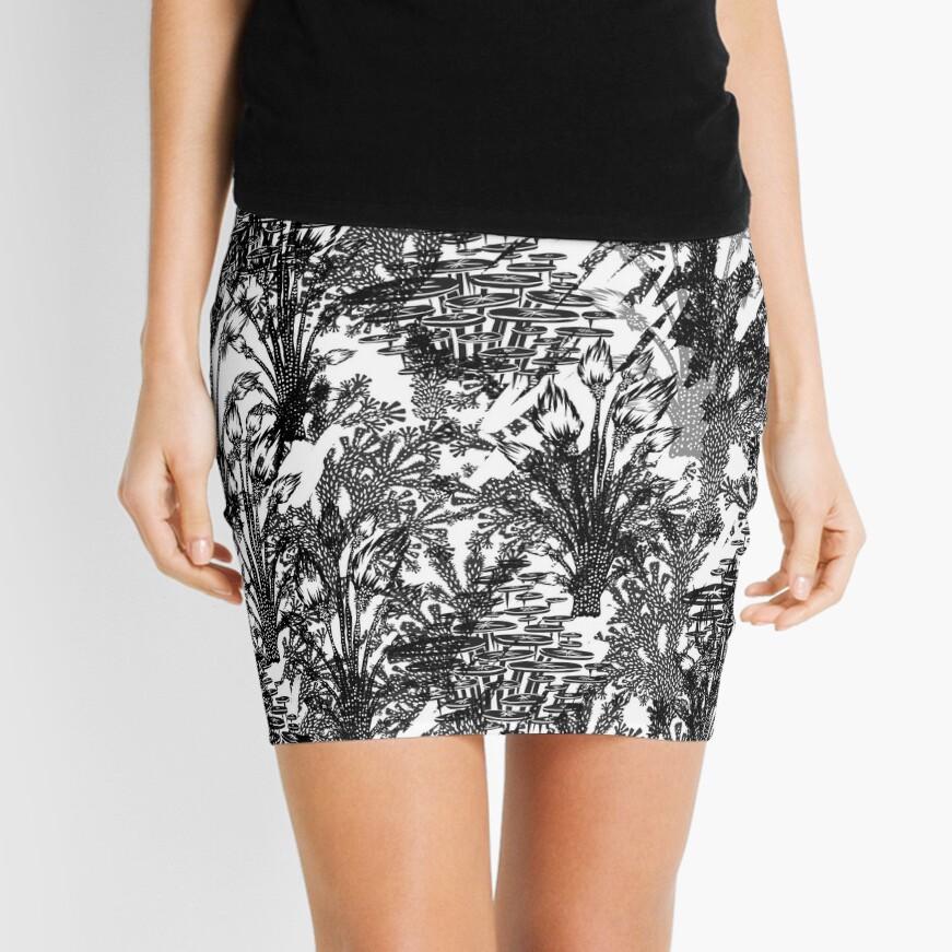 Grey Jungle Camo Mini Skirt