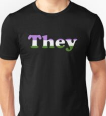 They (Genderqueer) Slim Fit T-Shirt