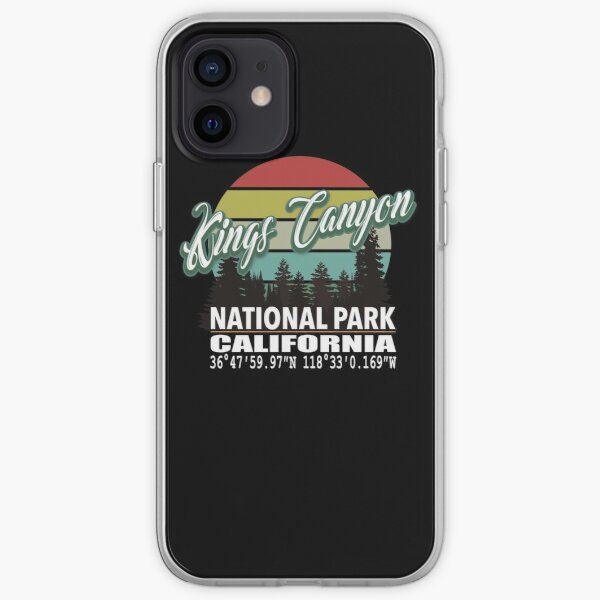 Kings Canyon and Sequoia National Parks With Awesome GPS Location Design iPhone Soft Case