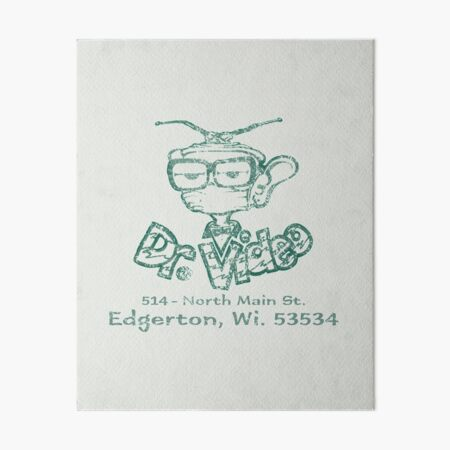Dr. Video Plus Video Rental Store Edgerton, WI VHS 80s 90s kids Art Board Print