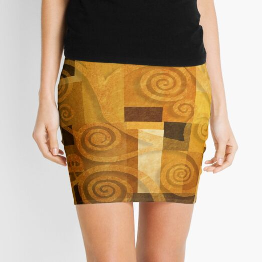 AbstractKlimt #08 Mini Skirt