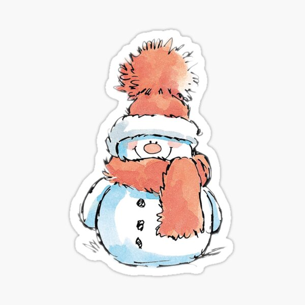 cute snowman Sticker