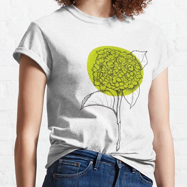 Light Green Hydrangea Flower Classic T-Shirt