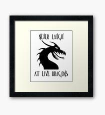 Laugh at Dragons Framed Print