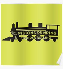 Pistons Pumping Poster