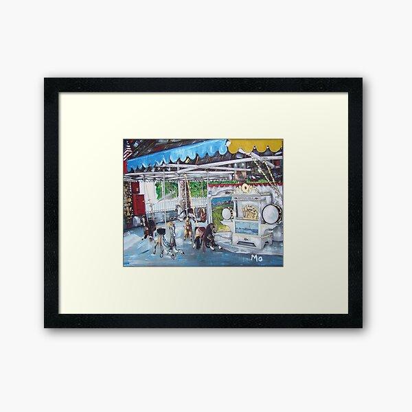 Watch Hill Carousel Framed Art Print