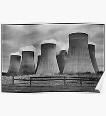 Ratcliffe Power Station Cooling Towers Poster