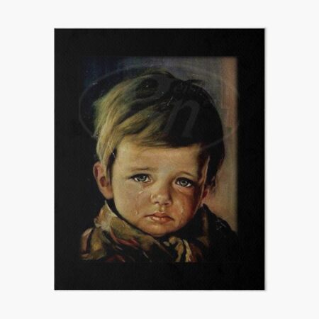 The crying boy cursed painting Art Board Print