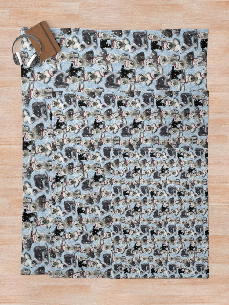 Alternate view of The Christmas Old English Sheepdog Throw Blanket