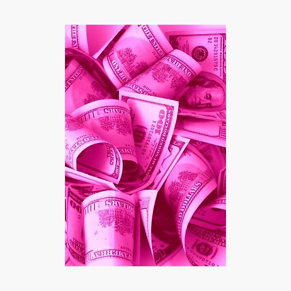 Icy Pink Money Glam - Kylie's Birthday Collection Inspired Photographic Print