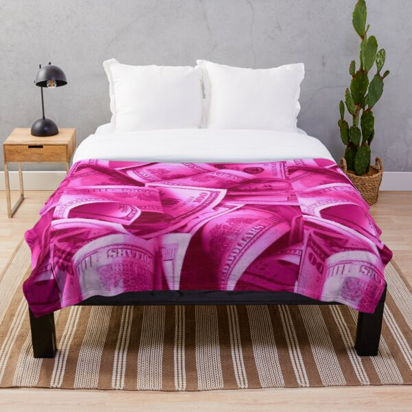 Icy Pink Money Glam - Kylie's Birthday Collection Inspired Throw Blanket