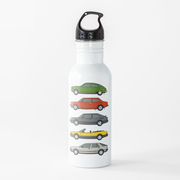 Saab Oldtimer Umriss Illustration Trinkflasche