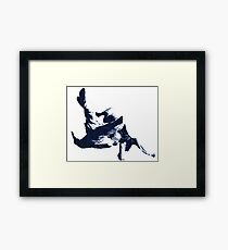 Judo Throw in Gi 3 Blue  Framed Print