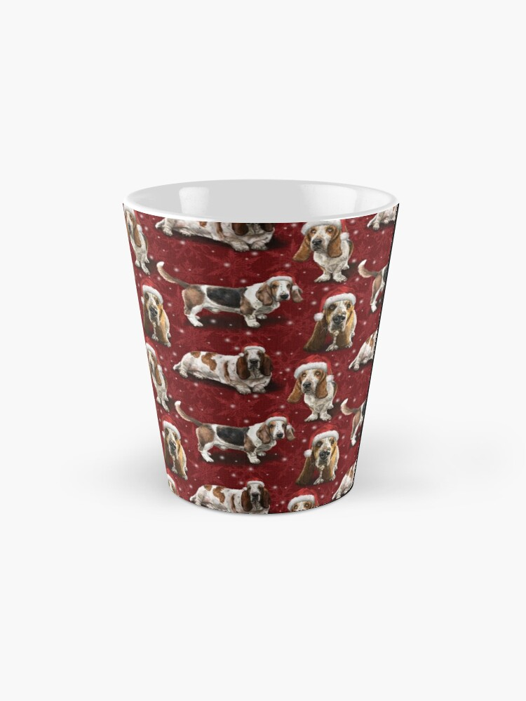 Alternate view of The Christmas Basset Hound Mug