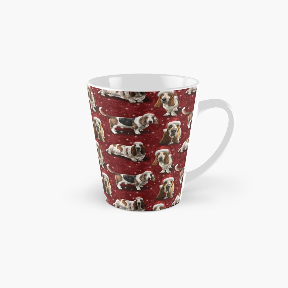 The Christmas Basset Hound Mug