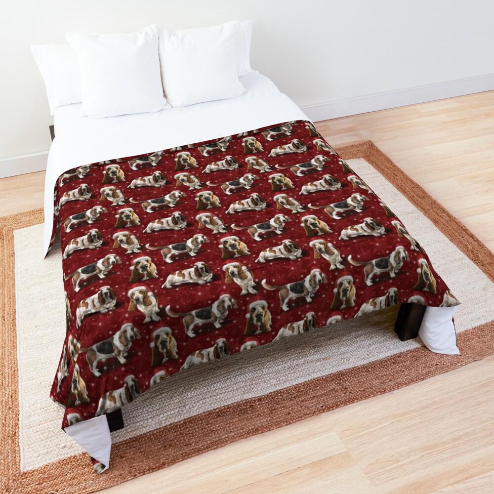 The Christmas Basset Hound Comforter